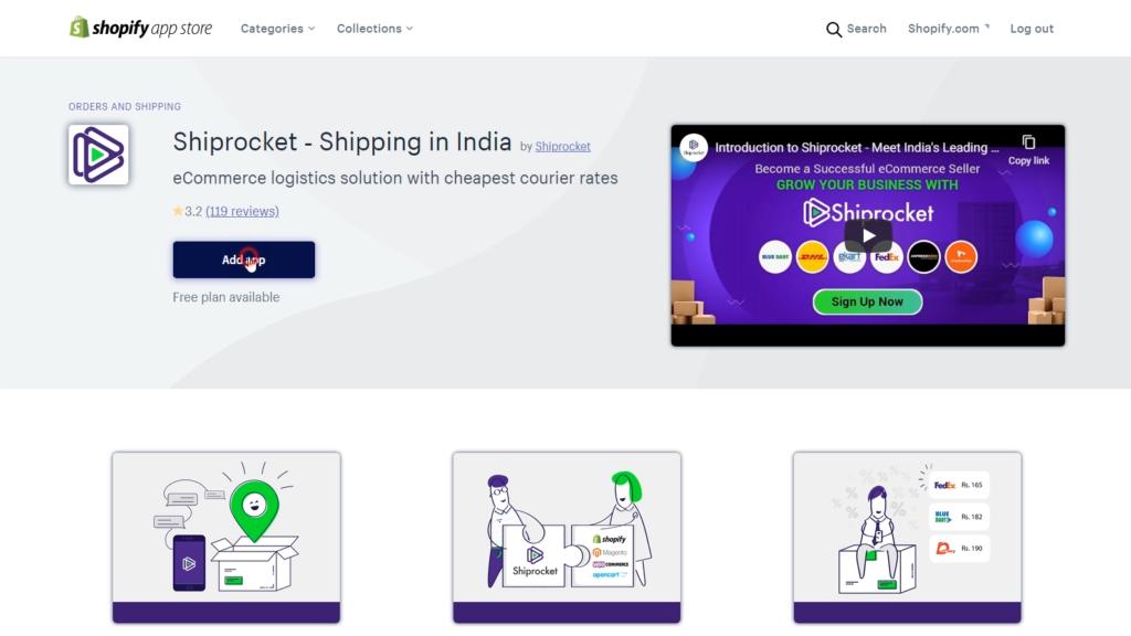 Shiprocket App Shopify App Store