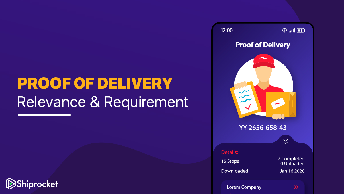 What is proof of delivery and why is it important