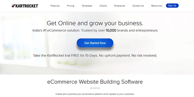 eCommerce Website Builder India Start Ups