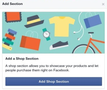 Add a FB Shop