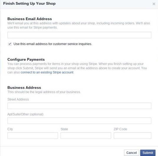 Setting up a Facebook Shop