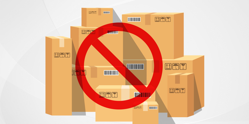 Different items not allowed for shipping