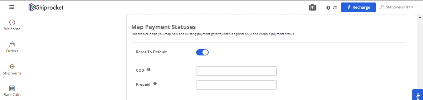 Map Payment Statuses