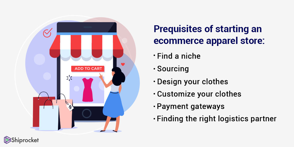 prequisites of starting an eCommerce apparel store