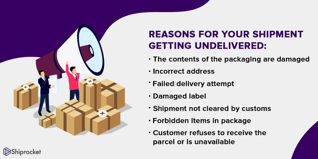 Reasons for shipment getting undelivered