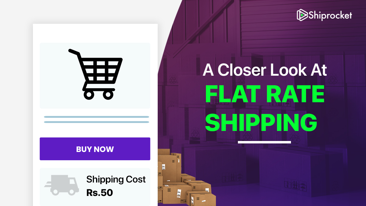 How can flat rate shipping be useful for an eCommerce business
