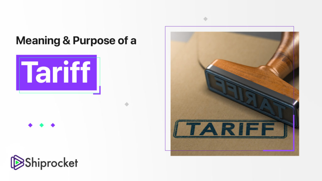 what is a tariff?